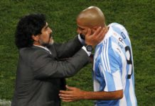 Verón contra Maradona